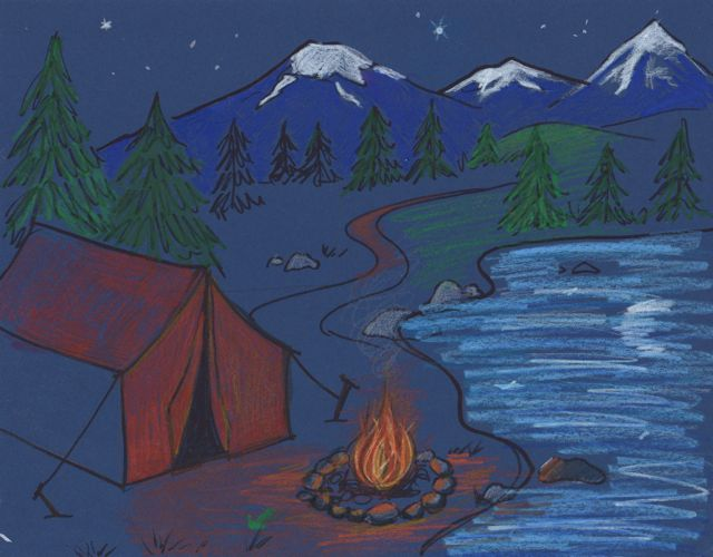 640x500 Creator's Joy Campfire Drawing Project
