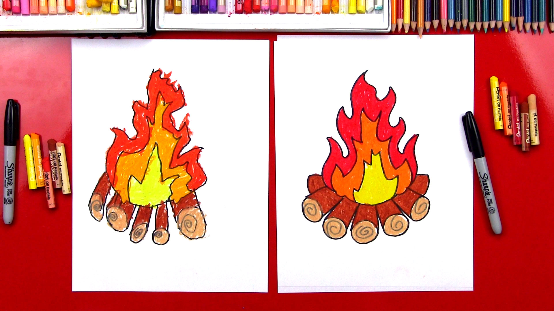 1920x1080 How To Draw A Campfire