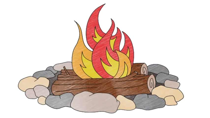 854x480 How To Draw A Campfire