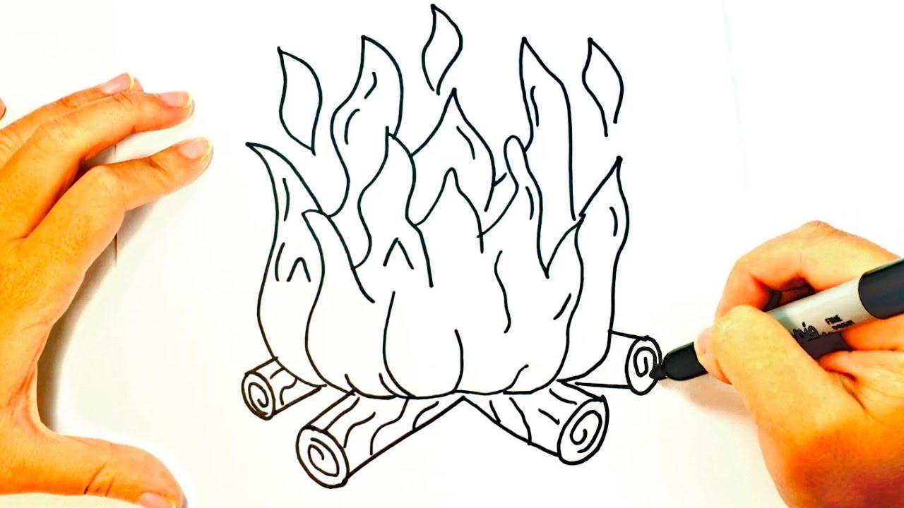 1280x720 How To Draw Fire Fire Easy Draw Tutorial