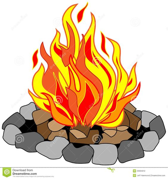 564x599 Campfire Clip Art Free Vector Drawing Of Campfire In A Stone Pit
