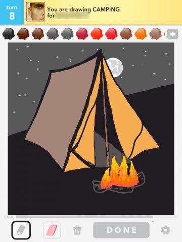 360x480 Camping Drawings