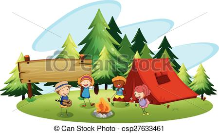 450x273 Children Camping Out In The Park Clip Art Vector