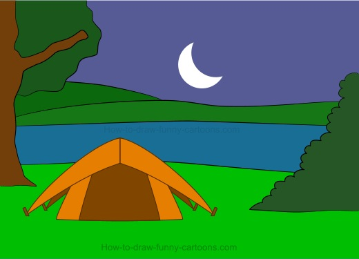 520x375 Drawing Camping Cartoons
