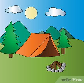 275x273 How To Draw A Campsite 6 Steps (With Pictures)