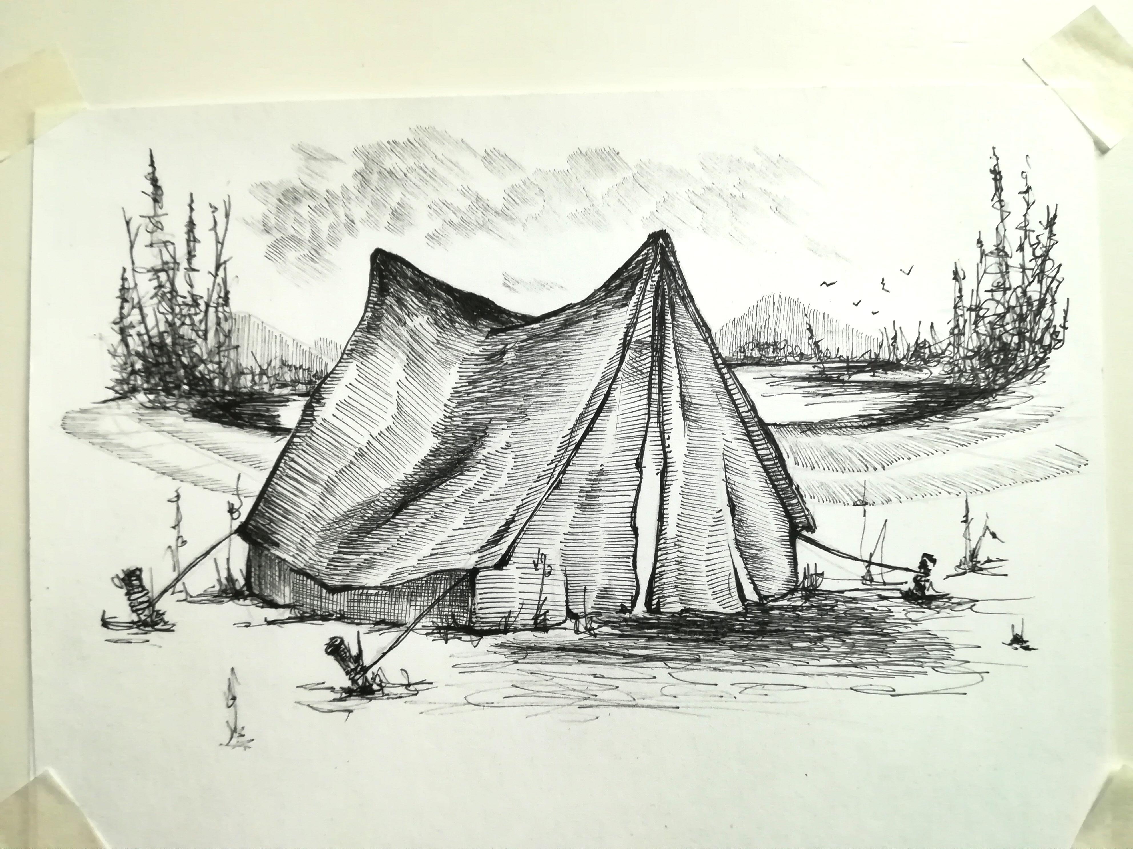 3968x2976 Request. I Would Like To Draw A Special Camping Place For You