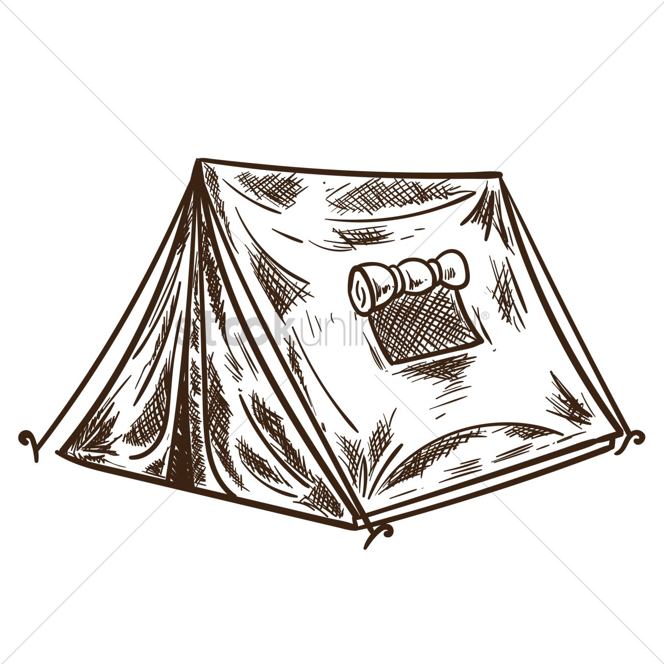 1300x1300 Camping Tent Vector Image