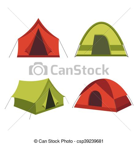 450x470 Collection Of Camping Tents Vector. Camping Tent Vector Vector