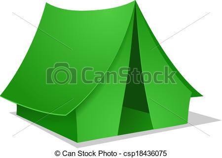 450x321 Green Camping Tent. Vector Illustration Vectors Illustration