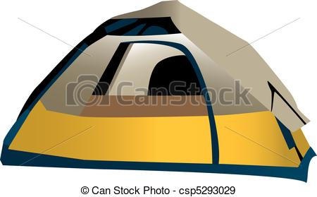 450x279 Illustration Of Domed Camping Tent, Isolated On White Eps