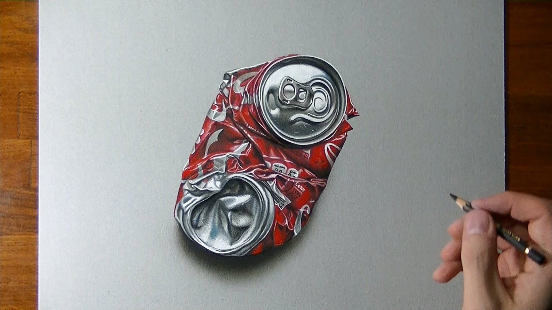 1920x1080 How To Draw A Crushed Coca Cola Can