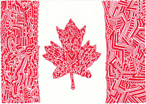 300x214 Canada Flag Drawings Fine Art America