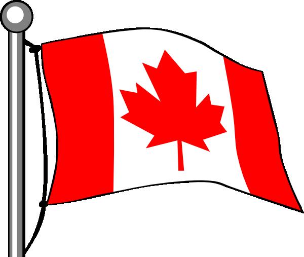 600x507 Canada Flag Flying Clip Art