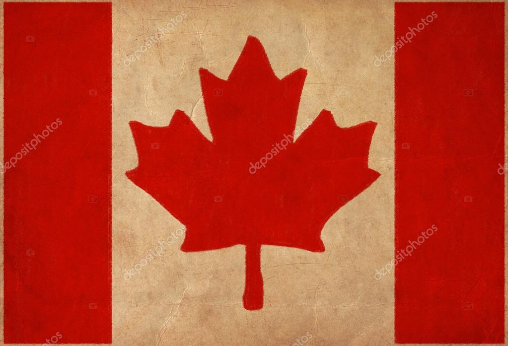 1023x697 Canada Flag Drawing ,grunge And Retro Flag Series Stock Photo