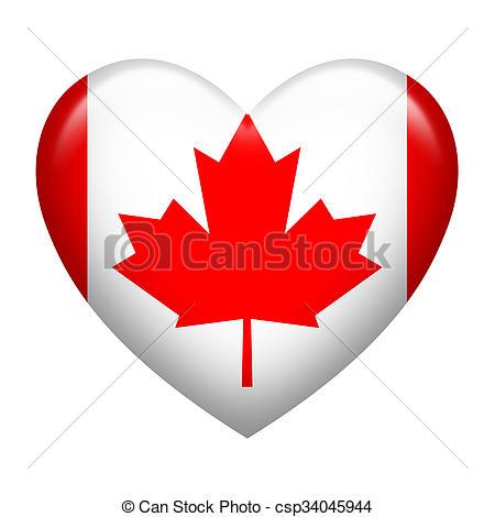 450x470 Canada Insignia Heart Shape. Heart Shape Of Canada Flag Drawing