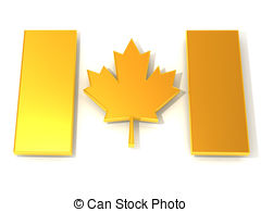 240x195 Canadian Flag. 3d Drawing
