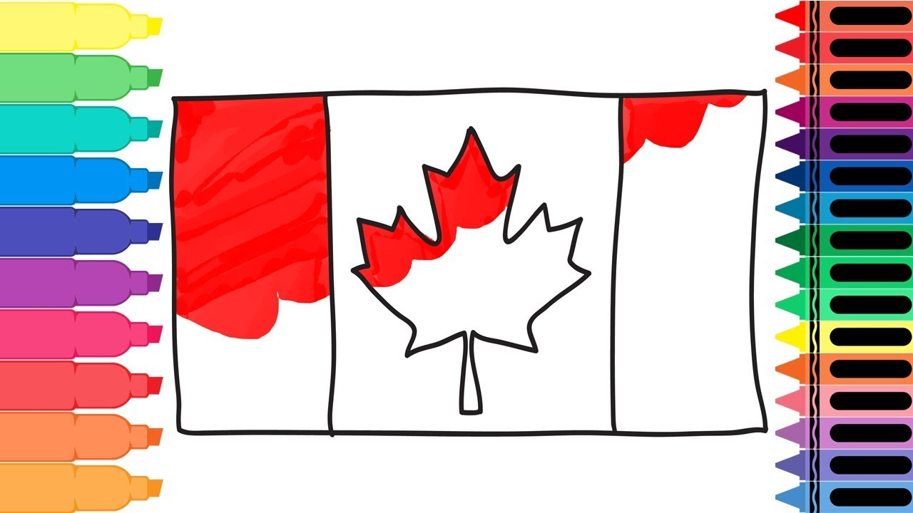 1280x720 How To Draw The Canadian Flag