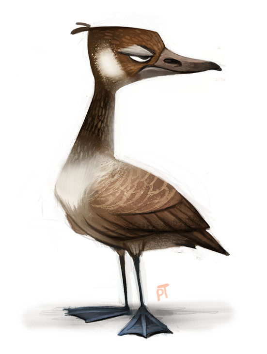 551x731 Day 533. Canadian Goose By Cryptid Creations