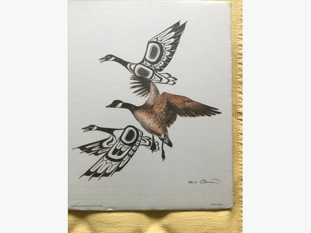 614x461 Sue Coleman Print Of Canada Geese North Nanaimo, Nanaimo