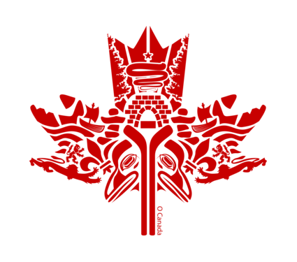425x375 Beautiful First Nations Canadian Maple Leaf Art.