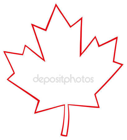 409x449 Canadian Outlined Maple Leaf Stock Vector Hittoon