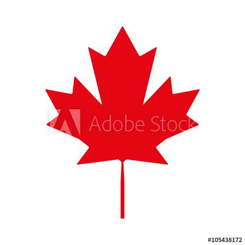 500x500 Canadian Maple Leaf Vector Icon. Maple Leaf Icon Jpeg. Maple Leaf