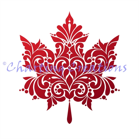450x450 Maple Leaf Silhouette (Charting Creations) Fall Door Hangers