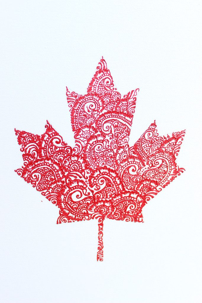 683x1024 Henna Maple Leaf Canadian Flag Henna Crafts Henna On Canvas