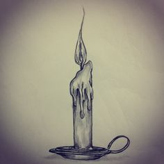 236x236 Candle And Holder Drawing