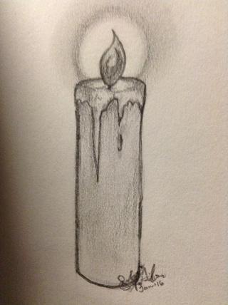 320x428 Candle Sketch Pencil
