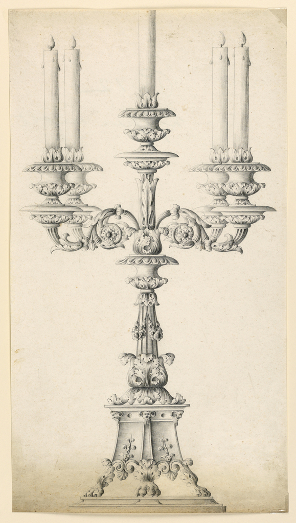 579x1024 Drawing, Candlestick, 1900 Objects Collection Of Cooper Hewitt