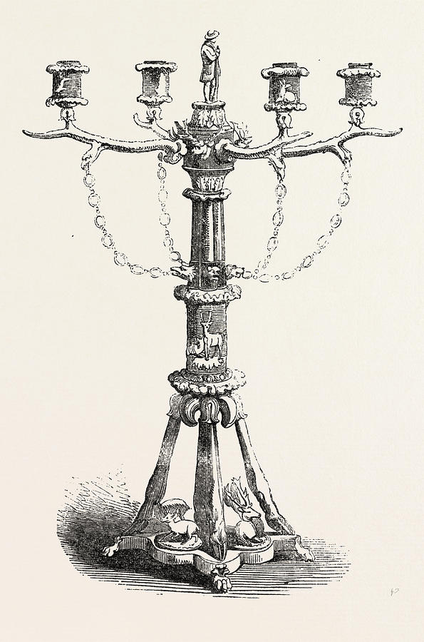 595x900 The Great Exhibition Horn Candlestick Drawing By Rampendahl