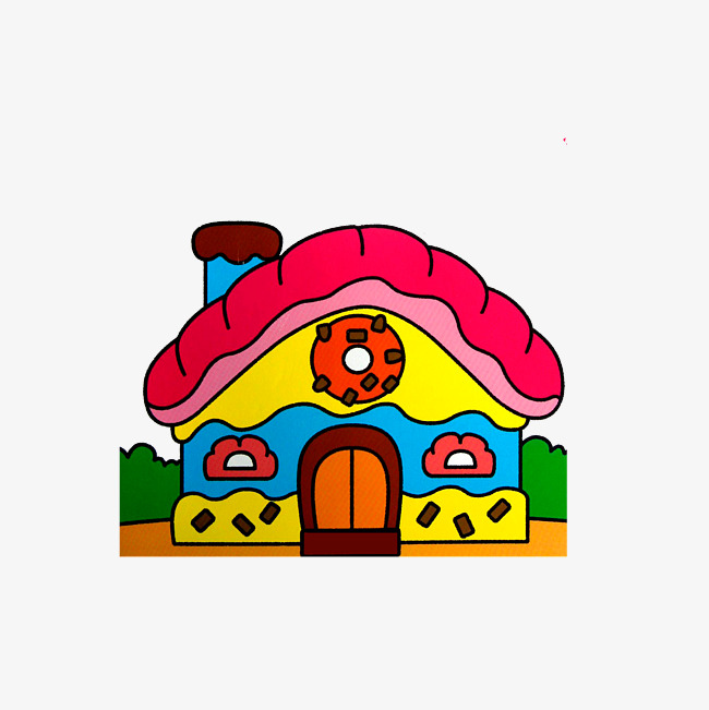 650x651 Candy House Drawing, Cartoon Candy House, Lovely Candy House Png