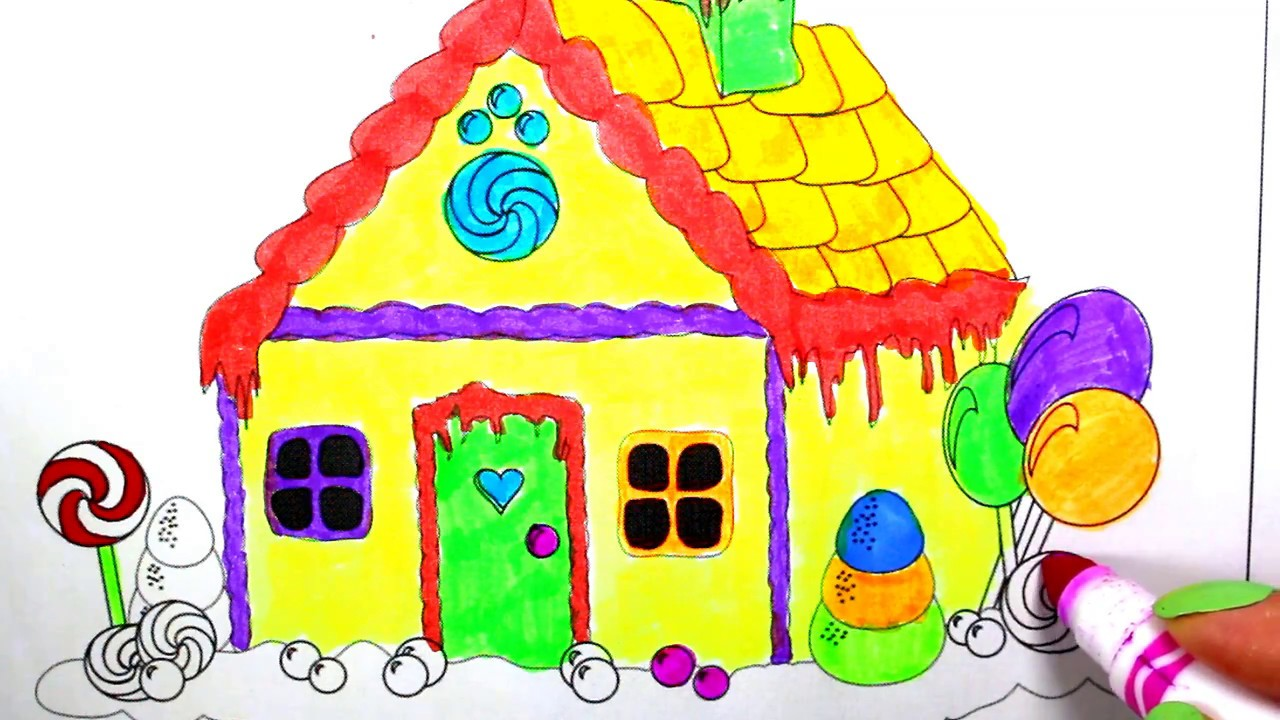 1280x720 Candy House How To Draw Candy House Candy House Drawing
