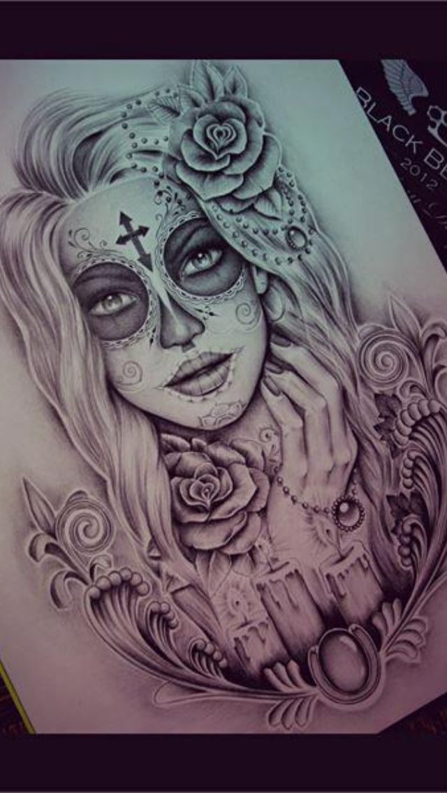 640x1136 35 Day Of The Dead Tattoos Tat Tattoo Designs