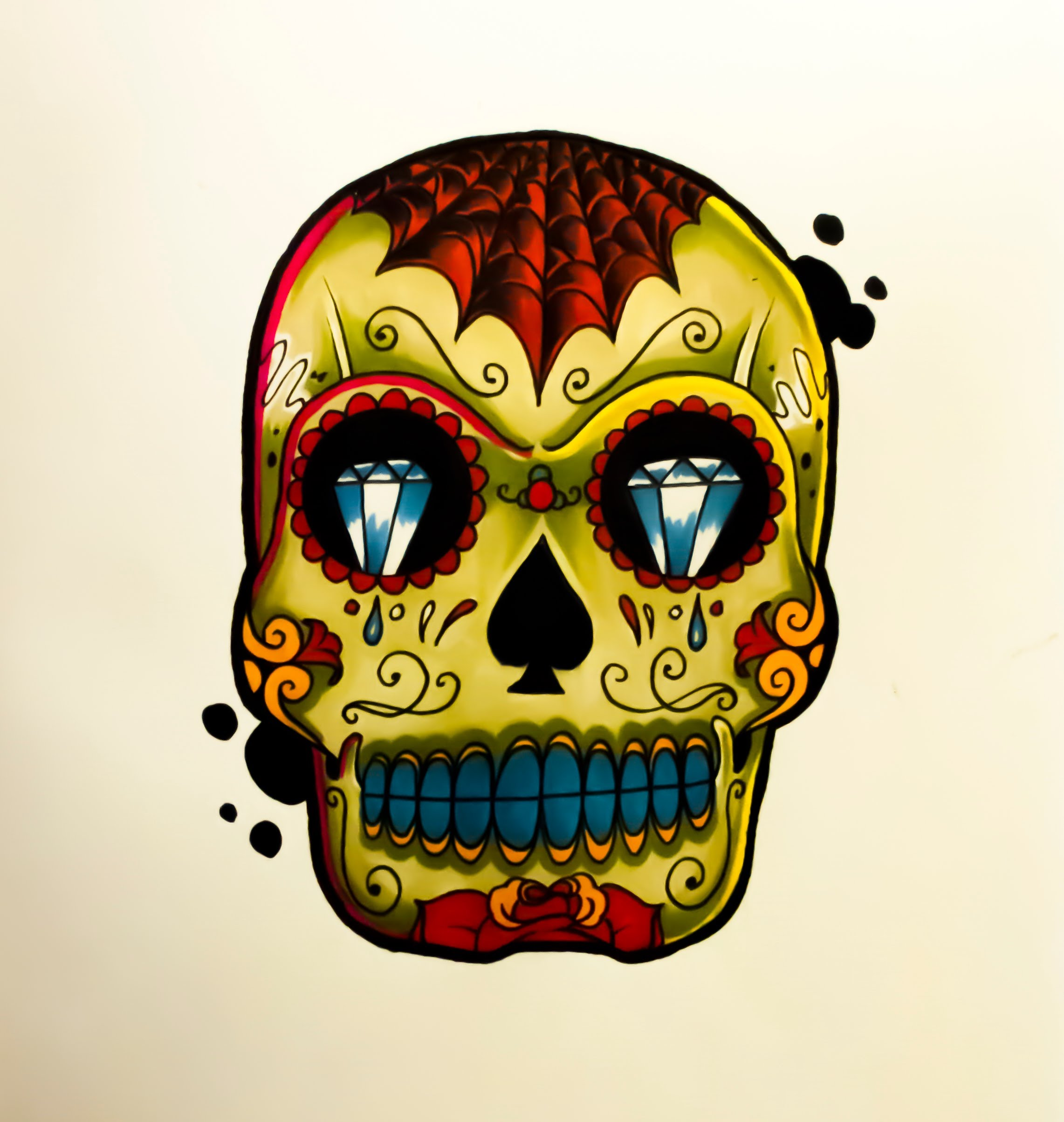 2283x2407 How To Draw A Tattoo Style Sugar Skull By Thebrokenpuppet