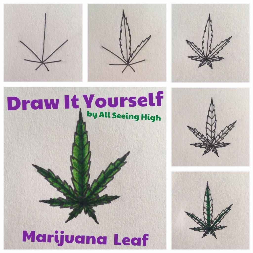 1024x1024 Draw It Yourself Diy Marijuana Leaf By All Seeing High Weed