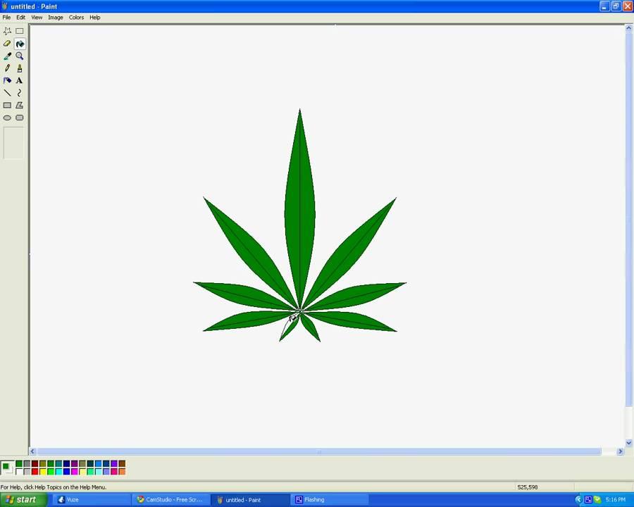 900x720 How To Draw A Marijuana Leaf In Microsoft Paint
