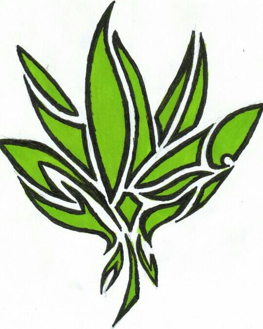 540x674 Nonobjective (Abstract) Marijuana Leaf Drawing Fancy Weed