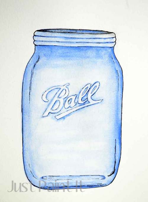 500x681 How To Paint A Canning Jar