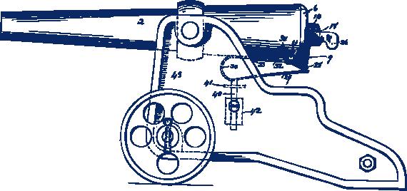570x268 Winchester Cannon Patent Drawings Bellmore Johnson Company