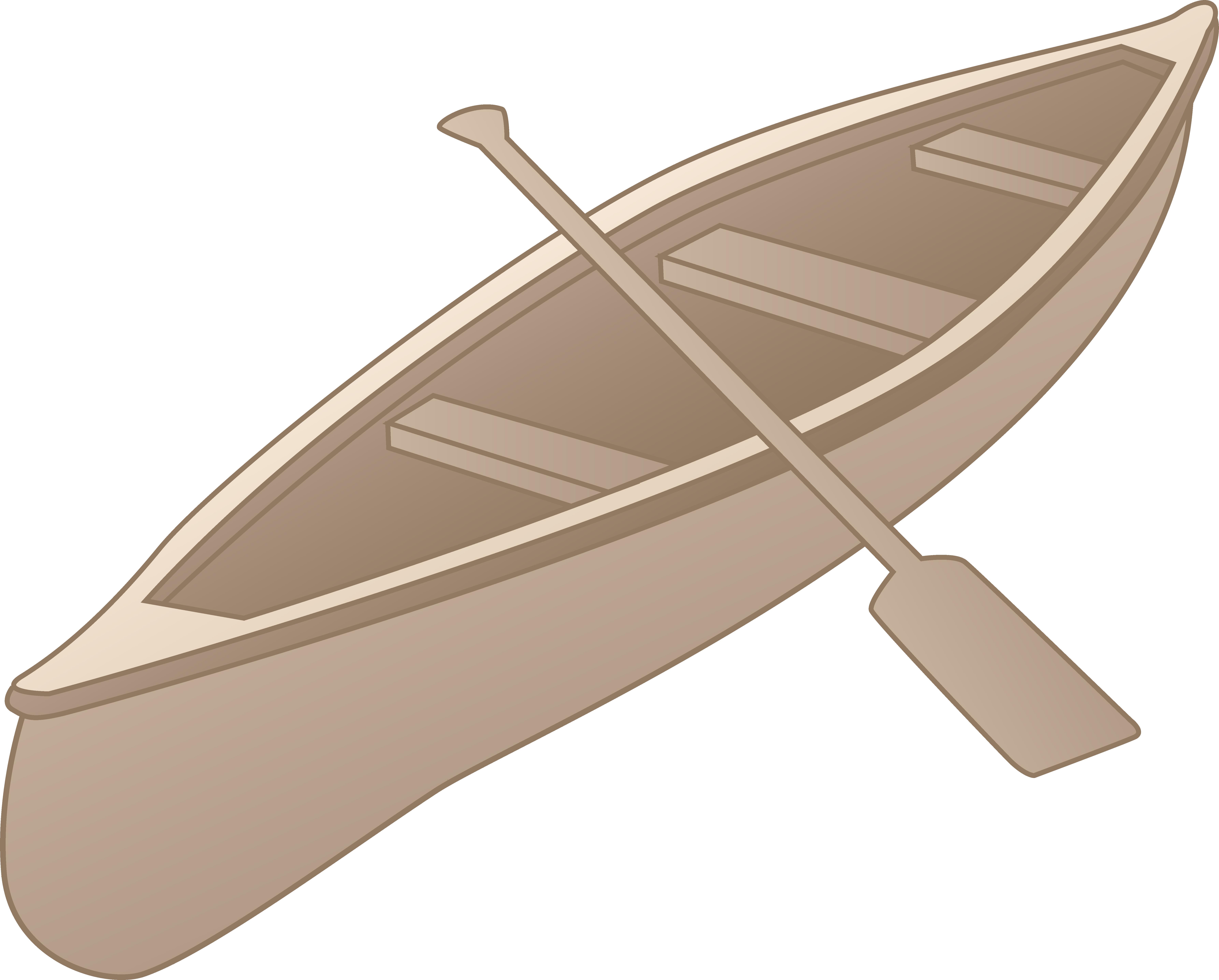 7146x5744 Grey Canoe Clipart Design