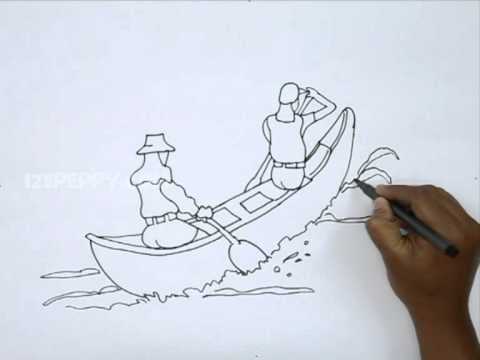 480x360 How To Draw Canoeing