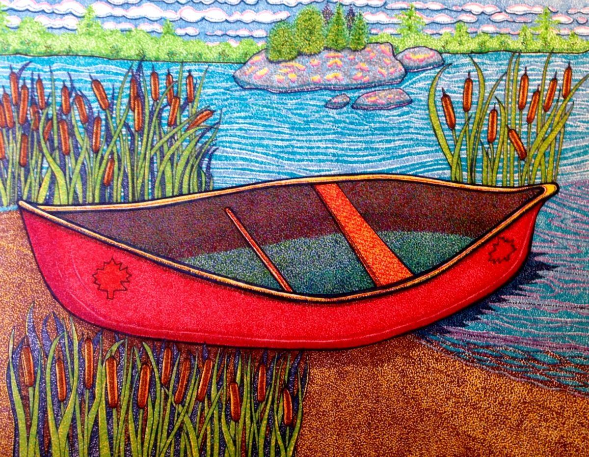 1200x930 My Canada Red Canoe Suzanne Berton