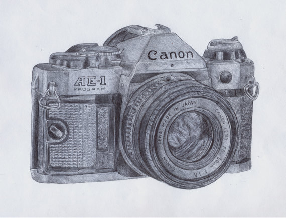 Canon Camera Drawing At Getdrawings Free For Personal Use