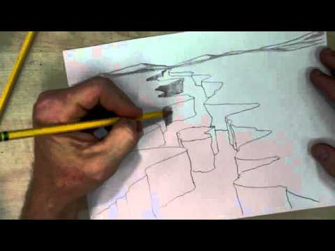 480x360 How To Draw A Canyon With River