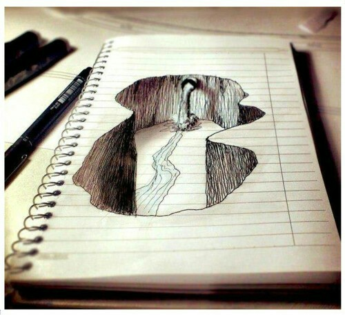 500x456 Inside The Paper Canyon Drawings Awesome Drawings