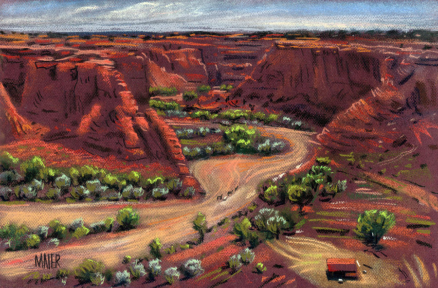 900x592 Junction Canyon De Chelly Drawing By Donald Maier