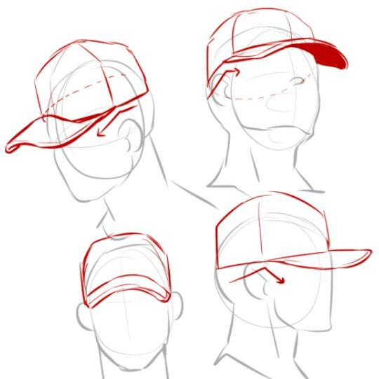 540x541 Drawing Reference Cap Angles, Hats A R T. John