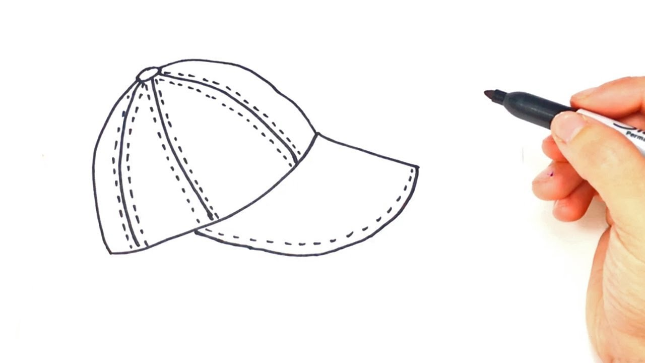 1280x720 How To Draw A Cap Step By Step Cap Drawing Lesson